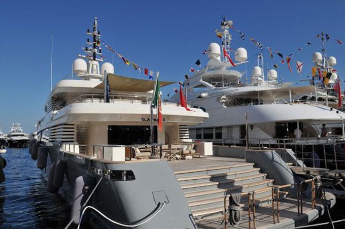 Monaco Boat Show superyacts