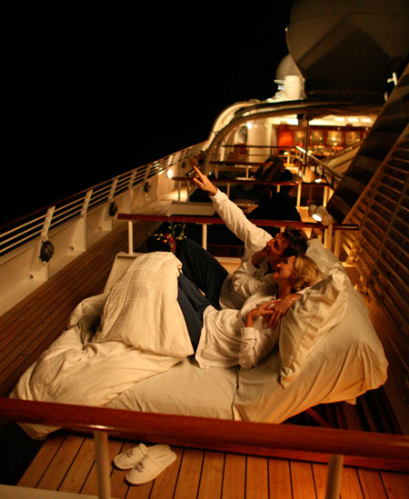 Seadream Balinese Dream Beds Night Deck image