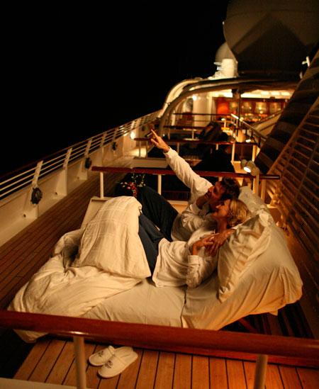 Seadream Balinese Dream Beds Night Deck image
