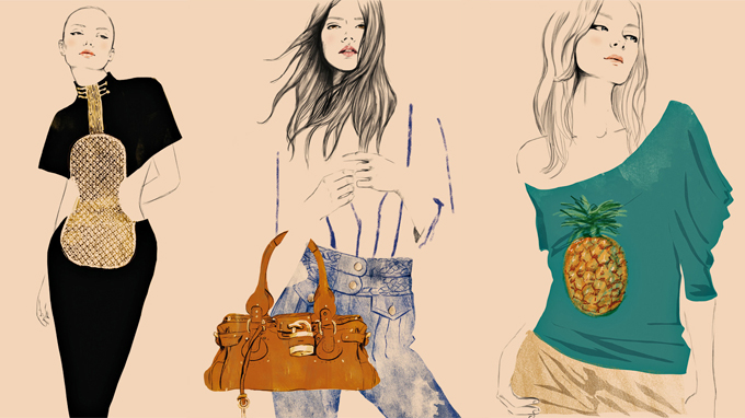 Designer sketches of famous Chloe pieces