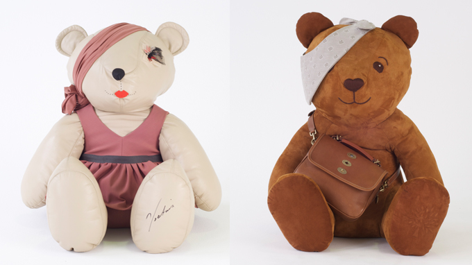 Pudsey bears designed by Victoria Beckham and Mulberry