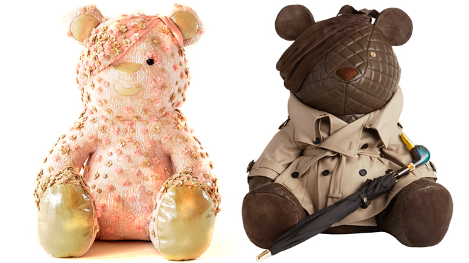 Pudsey bears designed by Alexander McQueen and Burberry
