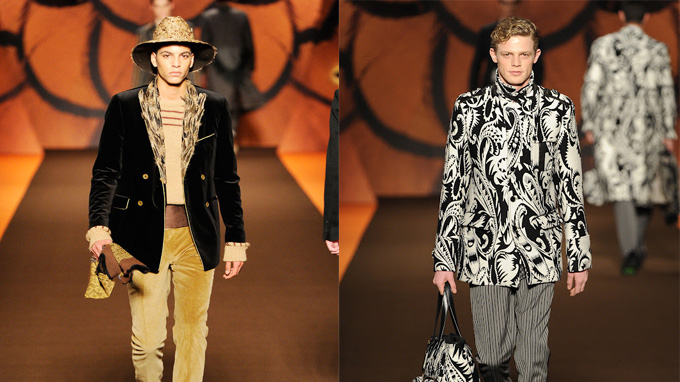 Two defining looks of the Etro AW12 Menswear range