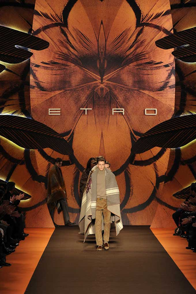 ETRO AW12 catwalk show finale with full backdrop