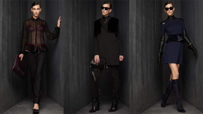 Three looks from the Kenneth Cole Collection AW12 line.