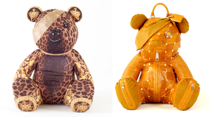 Pudsey bears designed by Versace and Louis Vuitton