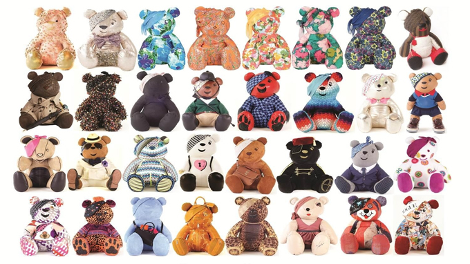 Full collection of designer Pudsey bears