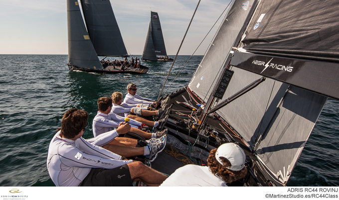 Adris RC44 World Championships 2012 onboard
