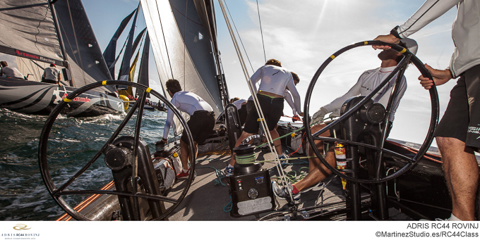 Adris RC44 World Championships 2012 onboard yacht