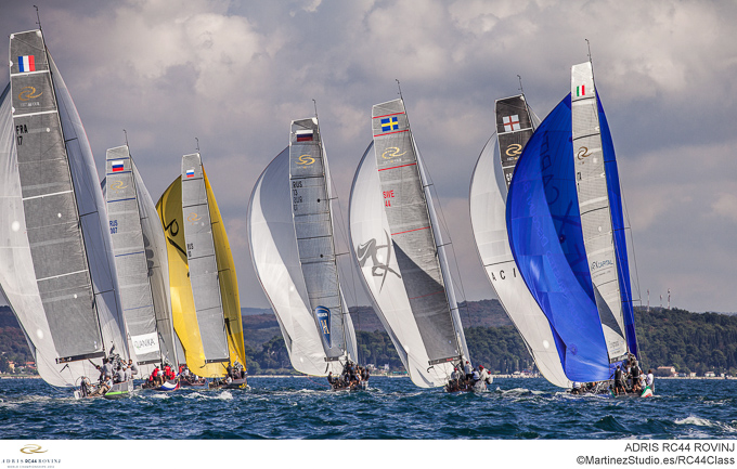 Adris RC44 World Championships 2012 yachts in action