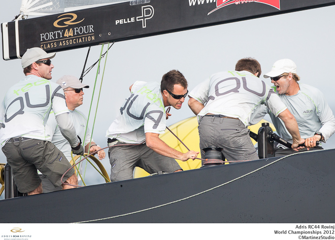 Team Aqua in action at RC44 World Championships 2012