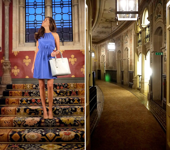 The Londoner review of St Pancras Renaissance Hotel staircase and corridors