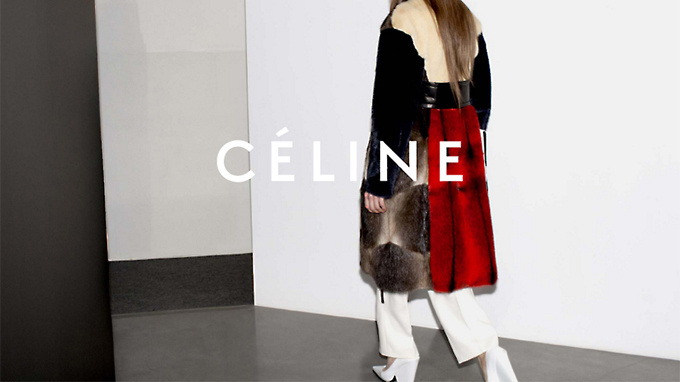Editorial campaign image for Céline AW12