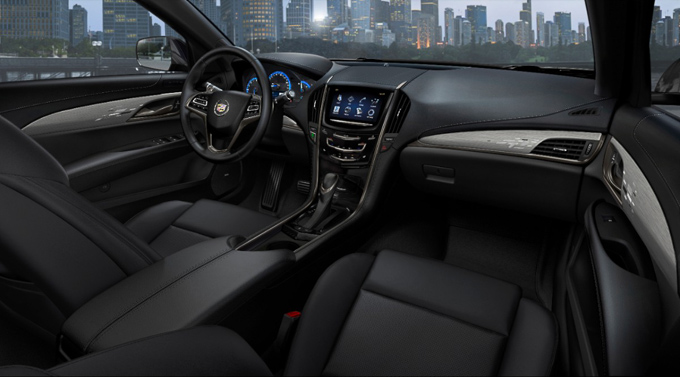 Interior view of Cadillac ATS