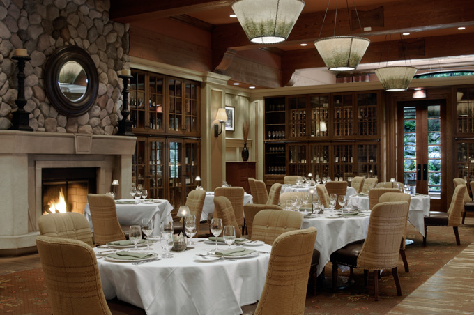 Fairmont Chateau Whistler Canada wideangle restaurant interior