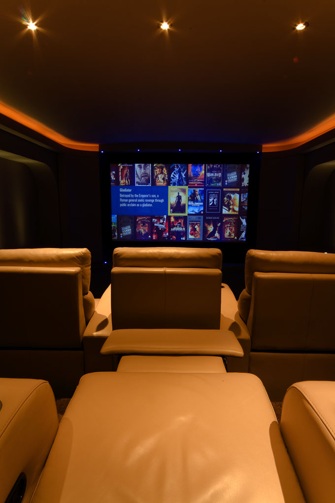 Finite Solutions Show Home basement cinema