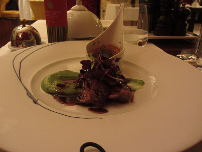 Tasting menu at the Wine Vault, Hotel Monte Mulini