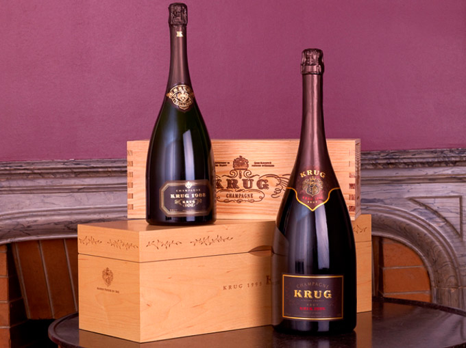 A selection of two of Krug's finest champagnes set to be auctioned at Sotheby's