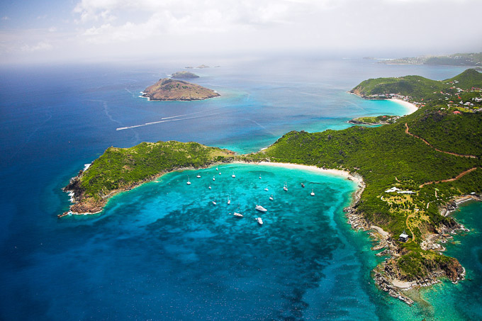 St. Barths arial image