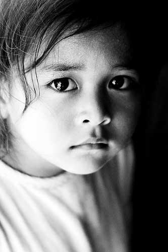 Young Columbian girl at Santa Maria Foundation Santa Maria School