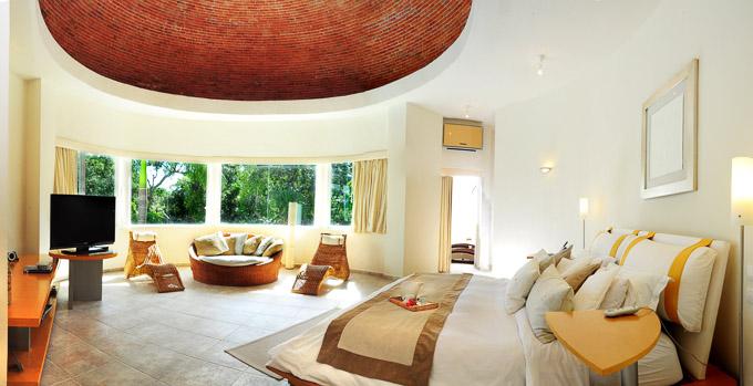 modern interior image of Aqua Villa, Playa del Carmen, Mexico master bedroom suite