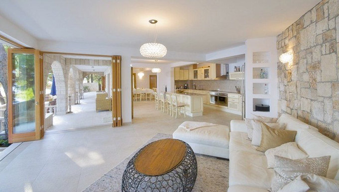Interior view of stunning Villa Rosemarine in Dalmatian Coast, Croatia