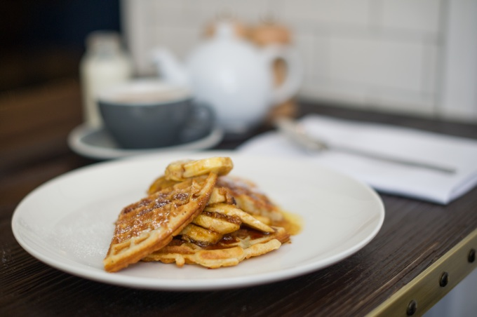Apero Restaurant at The Ampersand Hotel in London: Waffles