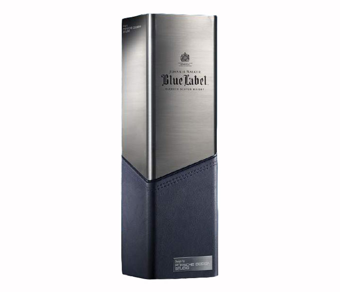 A leather and polished metal Johnnie Walker Blue Label Porsche Design Chiller