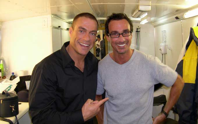 Stuart Phillips and Jean Claude Van Damme
