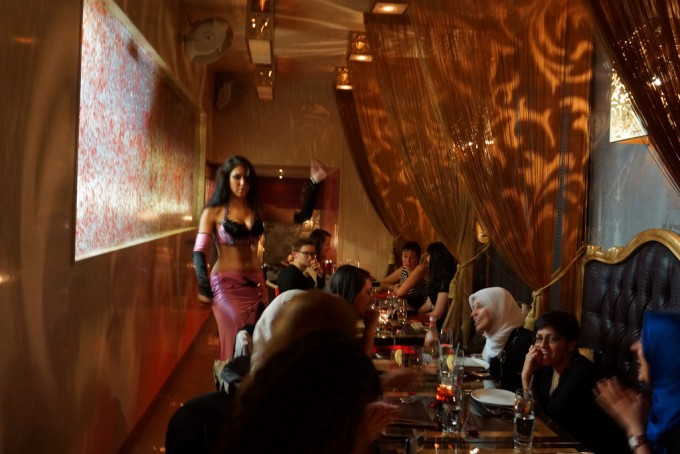 belly dancer at Mamounia Lounge in Knightsbridge