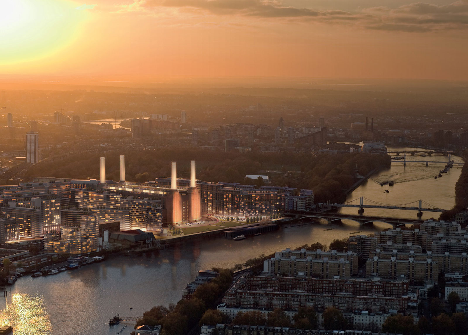 Luxury Homes On Sale At London's Battersea Power Station