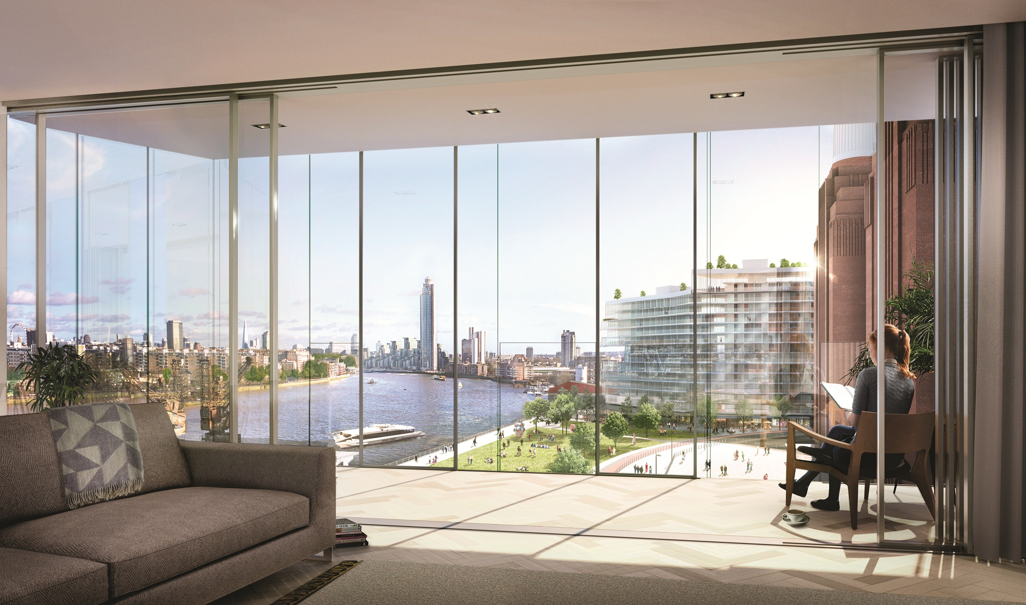 Luxury homes on sale at london 39 s battersea power station for Luxury homes in london