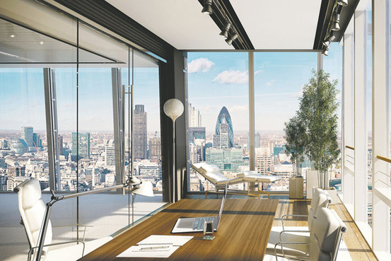 Interior of Shard luxury apartments