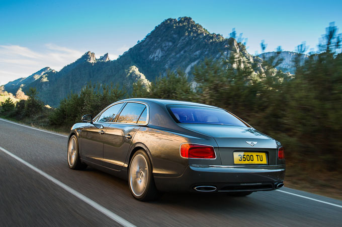 new Bentley Flying Spur rear view