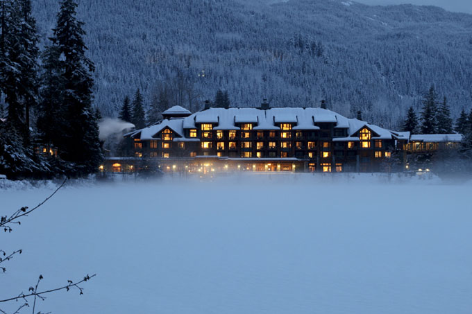 Nita Lake Lodge in the snow