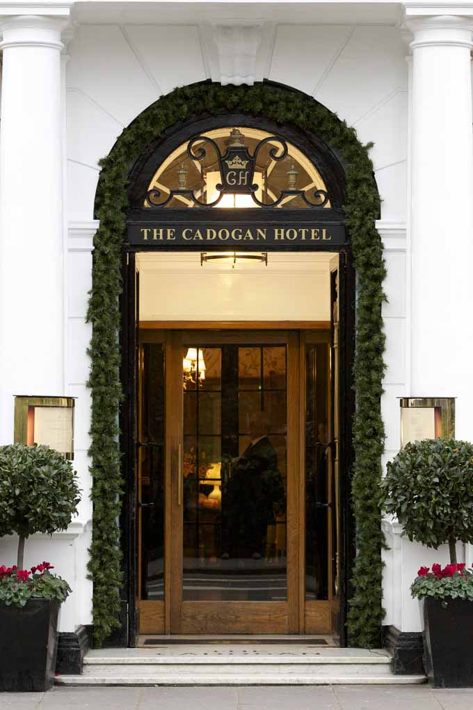 The Cadogan Hotel doorway