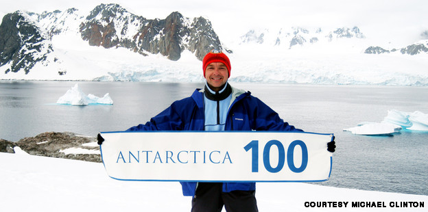 Michael Clinton in Antartica