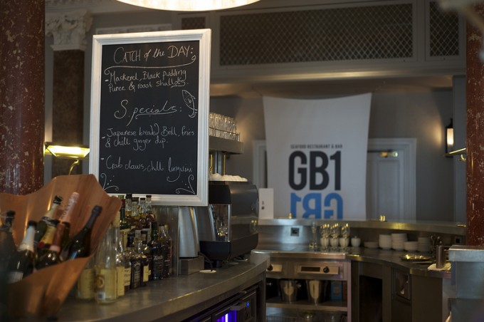 Blackboard specials at GB1 Seafood Bar & Restaurant