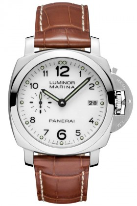 Italian Watchmaker Panerai Reveals White Dial For Luminor Marina Model