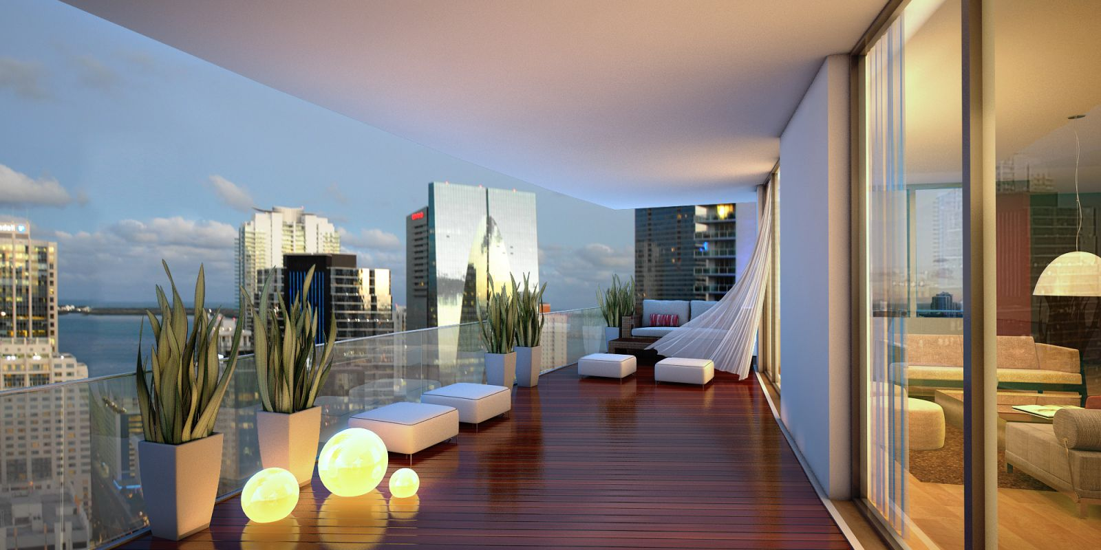 1100 millecento new luxury apartments in miami for On the balcony