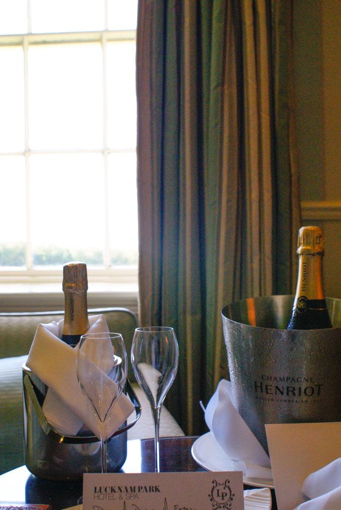 Lucknam Park Hotel champagne