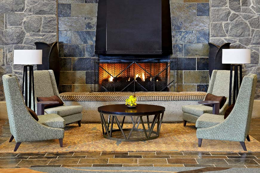 The Westin Whistler_Lobby Fireplace