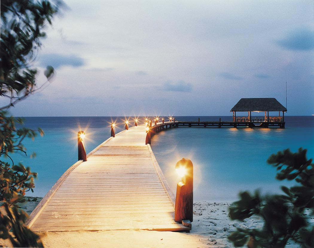 Jetty at Cocoa Island, Maldives