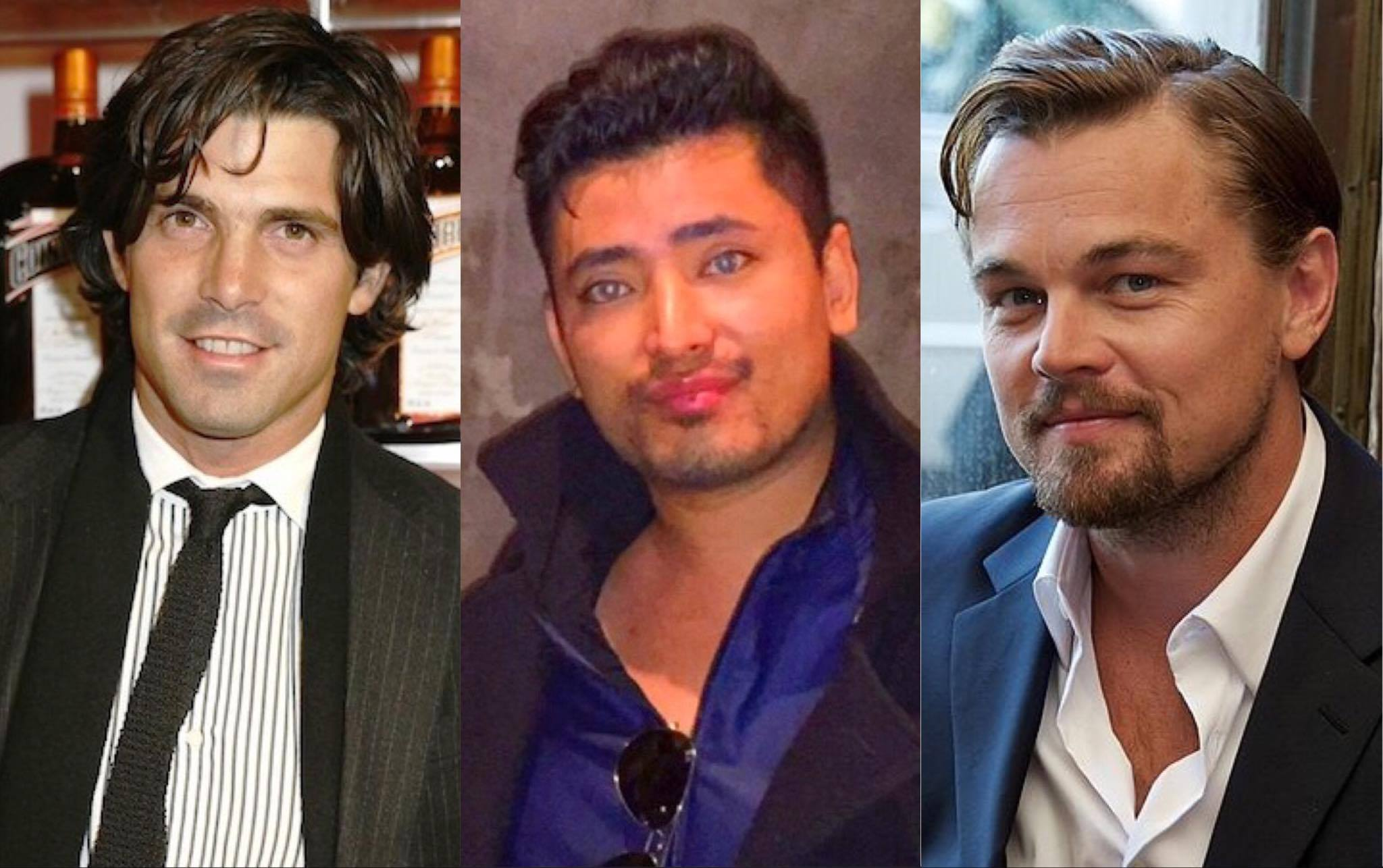 Influential Personalities regularly seen at The Plaza Hotel: (from left to right) International Polo Player Nacho Figueras, Global Luxury Brand Ambassador Pritan Ambroase, Academy Award Winner Leonardo DiCaprio