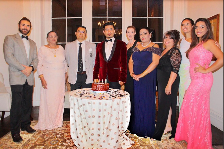 Global Luxury Ambassador Pritan Ambroase and his family at the Annual House of Ambroase Family Event